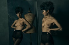 Black Swan, woman, nude, photography