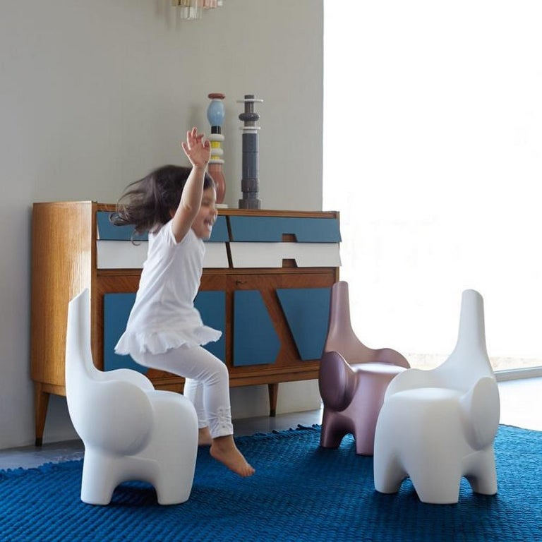 Modern In Stock in Los Angeles, Tino, Red Elephant Children's Chair, Made in Italy For Sale