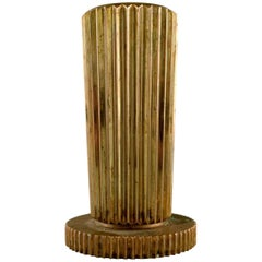 Tinos Art Deco Vase in Bronze, Denmark, 1940s