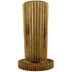 Tinos Art Deco Vase in Bronze, Denmark, 1940s