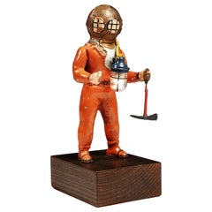 Tinplate Deep Sea Diver by Fleischmann, 1940