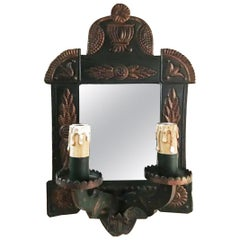 Wall Sconce ,Tinplate Mirror With illumination  or Wall Mirror