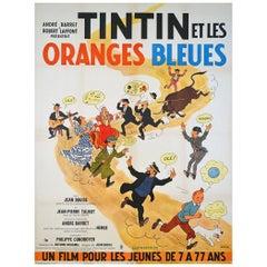 Tintin Et Les Oranges Bleues, 1964 Poster
