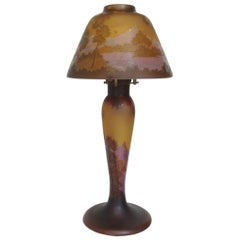 Tip Gallè Table Lamp Multilayer Glass in Art Nouveau Style