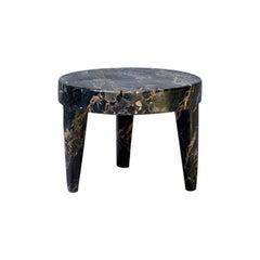 Tip Tap Portoro Table in Marble by Mauro Mori Studio