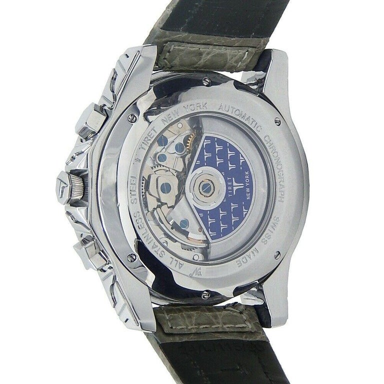 Tiret Automatic Chronograph Stainless Steel Automatic Men's Watch For Sale 3