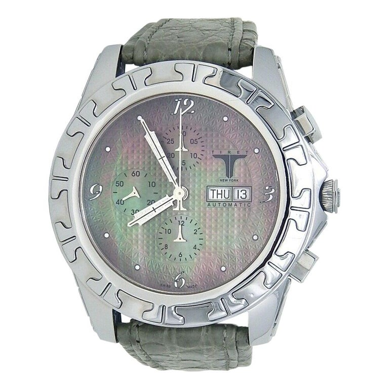 Tiret Automatic Chronograph Stainless Steel Automatic Men's Watch For Sale