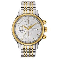 Tissot Automatic Chronograph White Dial Two-Tone Men's Watch T0854272201100