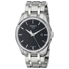 Tissot Couturier Steel Black Dial Quartz Men's Watch T035.410.11.051.00