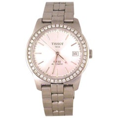 Tissot PR50 Men's Watch Stainless Steel White Diamonds