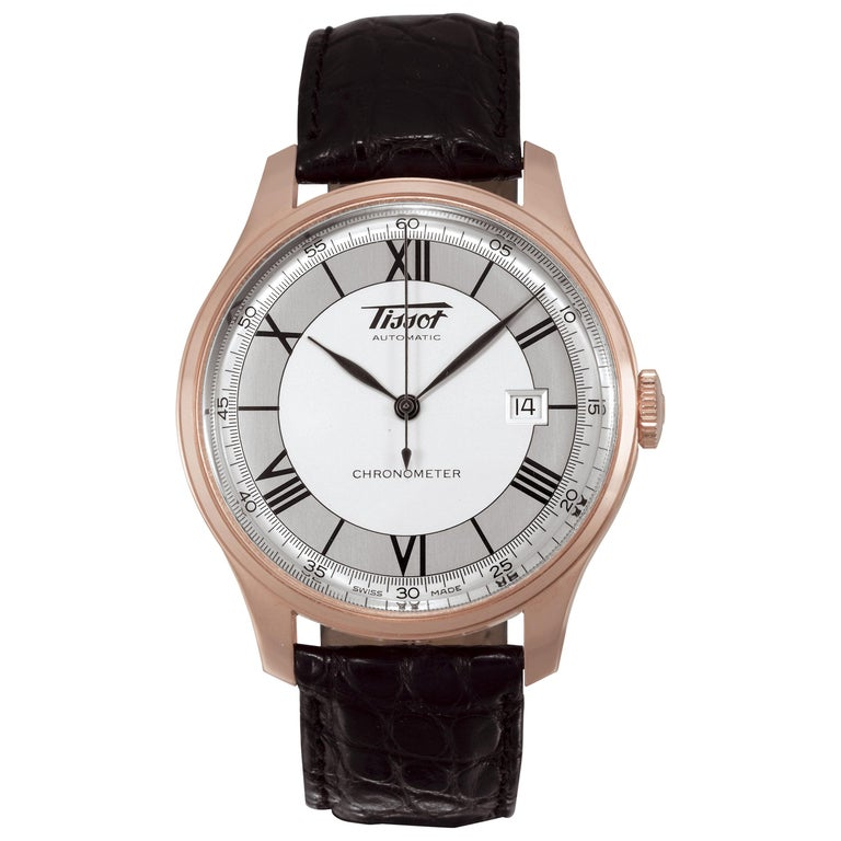 Tissot Rose Gold Chronometer Automatic Wristwatch Ref H700333