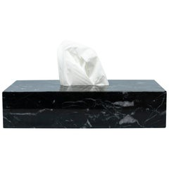 Tissues Cover Box in Black Marble