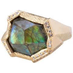 Titan Andradite Green Garnet Ring