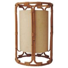 Tito Agnoli Bamboo Table Lamp for Bonacina, Italy, 1960s