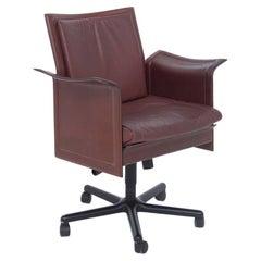 Tito Agnoli for Matteograssi Desk Armchair Korium in Leather, Label