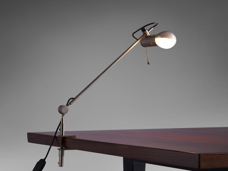 Tito Agnoli for O-Luce, desk light 'Cornalux', metal, Italy, 1964.
