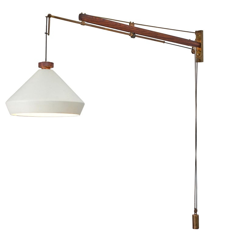 Tito Agnoli For O-Luce Industrial Wall Light For Sale At