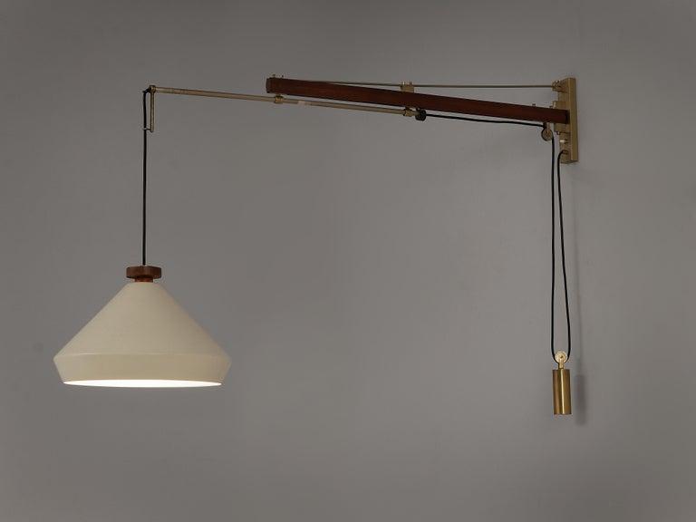 Italian Tito Agnoli for O-Luce Pendant Wall Light For Sale