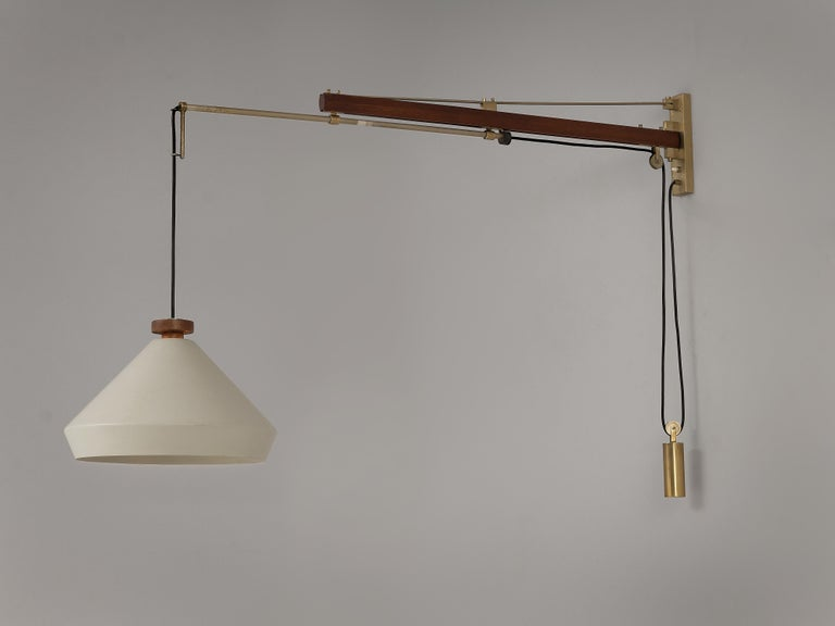 Tito Agnoli for O-Luce Pendant Wall Light In Good Condition For Sale In Waalwijk, NL