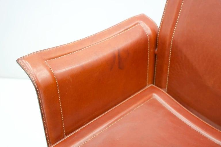 Tito Agnoli Korium Leather Chair by Matteo Grassi, Italy, 1970s For Sale 4