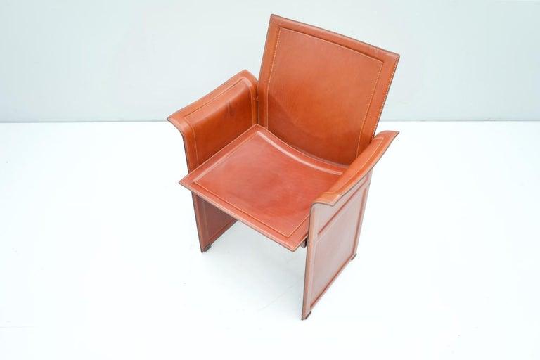 Italian Tito Agnoli Korium Leather Chair by Matteo Grassi, Italy, 1970s For Sale