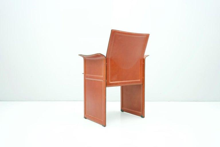 Tito Agnoli Korium Leather Chair by Matteo Grassi, Italy, 1970s In Good Condition For Sale In Frankfurt / Dreieich, DE