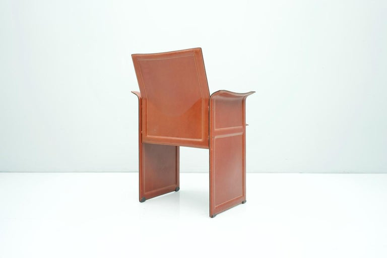 Late 20th Century Tito Agnoli Korium Leather Chair by Matteo Grassi, Italy, 1970s For Sale