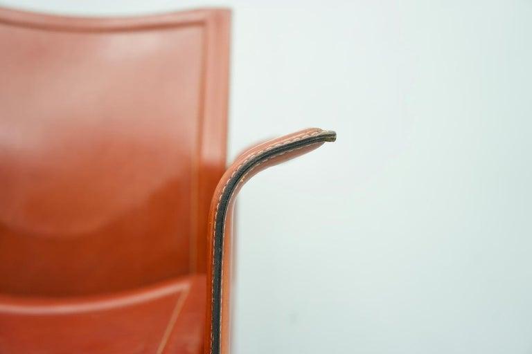Tito Agnoli Korium Leather Chair by Matteo Grassi, Italy, 1970s For Sale 2