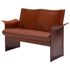Tito Agnoli 'Korium' Sofa in Cognac Leather