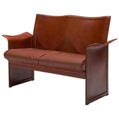 Tito Agnoli 'Korium' Sofa in Cognac Leather