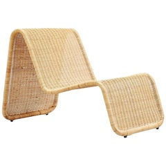 Tito Agnoli P3 Lounge Chair in Cane Bonacina, Italy, 1962