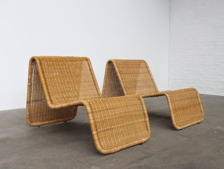 Italian Tito Agnoli P3 Lounge Chairs for Bonacina, Italy, 1960s