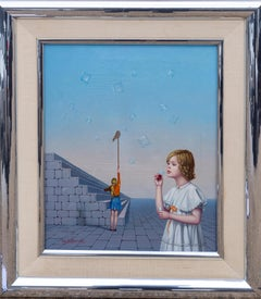 Bubbles, Surrealist Oil Painting by Tito Salomoni