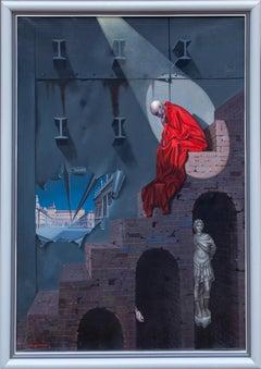 Spotlight, Surrealist Oil Painting by Tito Salomoni