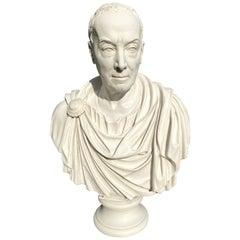 Titus in Toga Bust Sculpture, 20th Century