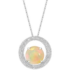 Tivon Fine Jewellery Opulent Opal and Diamond Necklace