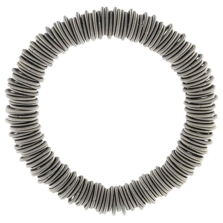 Tiziana N1 Stainless Steel Spring Bangle Bracelet For Sale