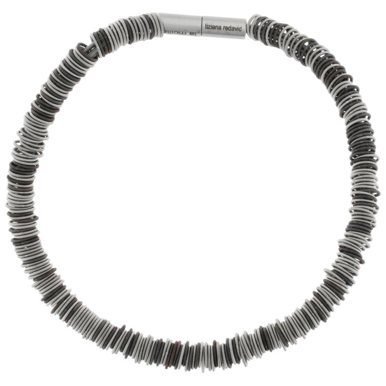 Tiziana N1 Stainless Steel Spring Choker Necklace For Sale