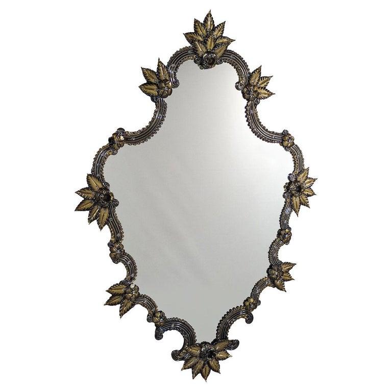 Tiziano Murano Glass Mirror For Sale