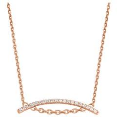 TJD 0.20 Carat Brilliant Diamond 18 Karat Rose Gold Necklace
