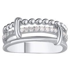 TJD 0.25 Carat Brilliant Diamond 10 Karat White Gold Bubble Ring