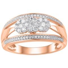 TJD 0.50 Carat Diamond 10 Karat Rose Gold Engagement Ring