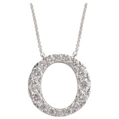 TJD 1.00 Carat Brilliant Cut 14 Karat White Gold Diamond Pendant