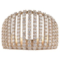 TJD 1.25 Carat Diamond Vertical Line 14 Karat Yellow Gold  Designer Ring