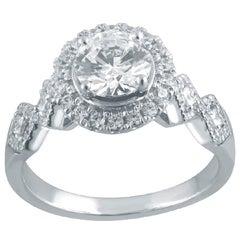 TJD 1.50 Carat Princess and Round Brilliant and a Centre Stone Diamond Frame