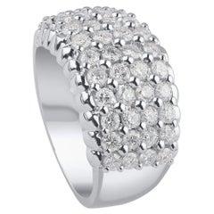 TJD 2.00 Carat Brilliant Cut Diamond 18 Karat White Gold Engagement Ring