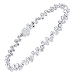 TJD IGI Certified 2.00 Carat Natural Diamond White Gold Bracelet
