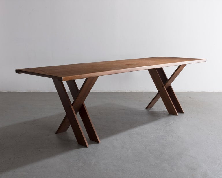 TL 58 dining table. Designed by Marco Zanuso for Poggi, Italy, 1974.