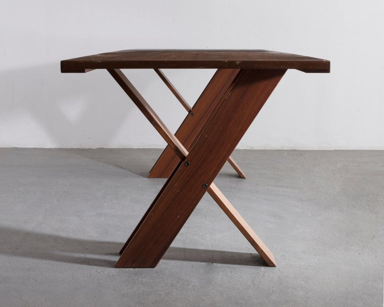 TL 58 Dining Table by Marco Zanuso, 1974 In Good Condition For Sale In New York, NY