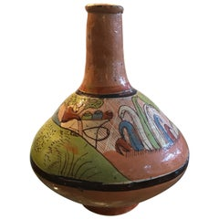 Tlaquepaque Mexican Hand Painted Ceramic Vase